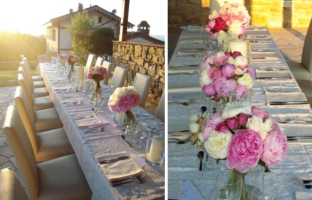 Centrotavola Ortensie E Peonie : Centrotavola peonie rosa la gardenia