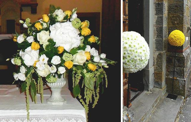 Matrimonio In Giallo E Bianco : Addobbo matrimonio bianco e giallo la gardenia