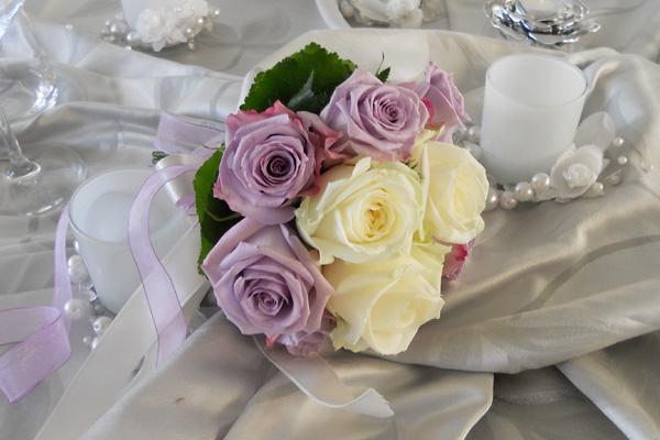 bouquet di rose lilla Arezzo