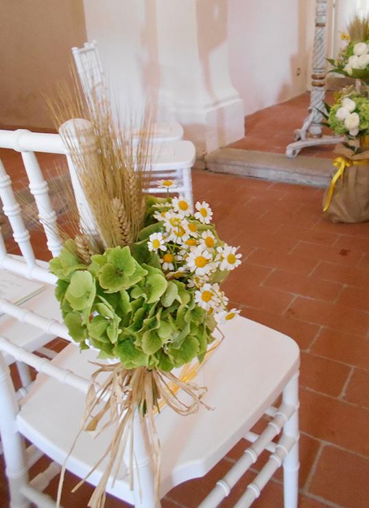 Bouquet per sedia   Santa Maria a Pigli
