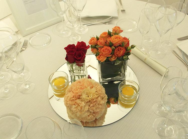 centrotavola arancio matrimonio villa burali Arezzo