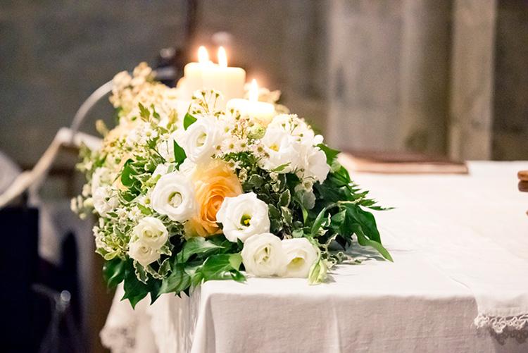 composizione altare matrimonio gropina