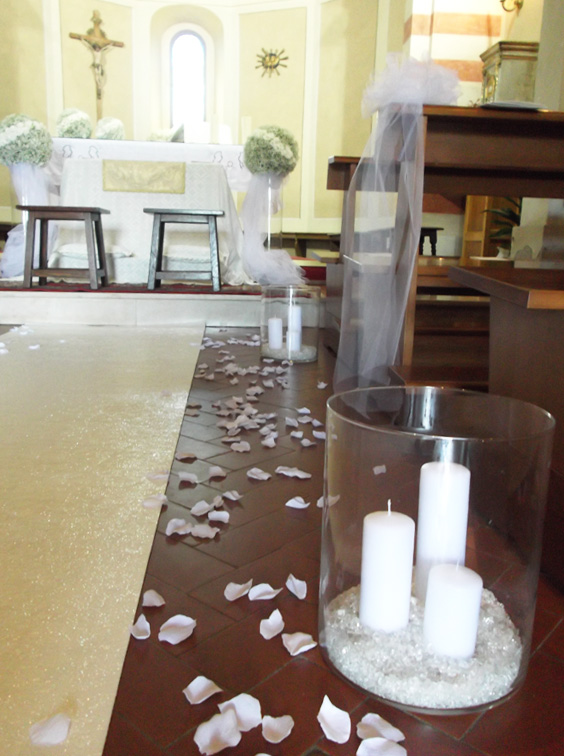 candele navata matrimonio