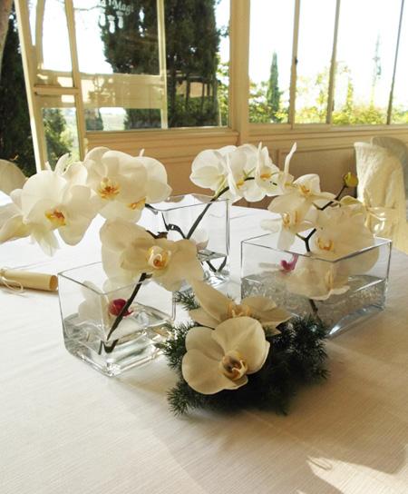 orchidee tavolo sposi presso Villa Magi ad Arezzo
