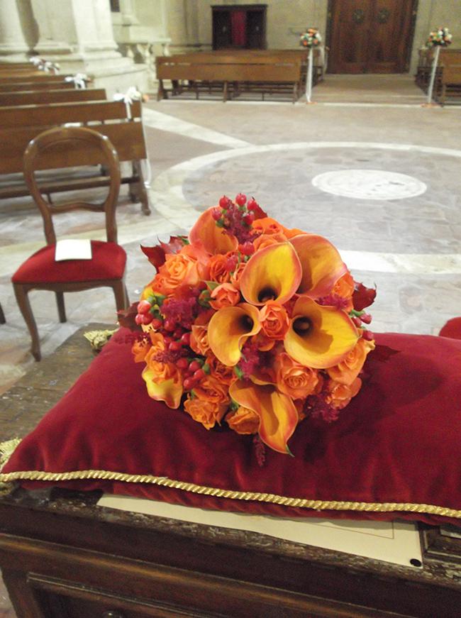 bouquet autunnale calle arancio