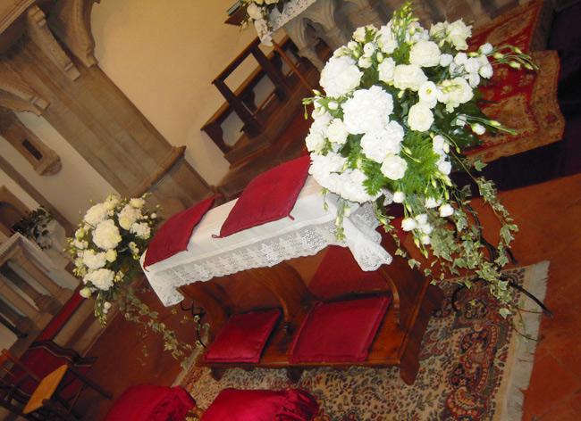 addobbo chiesa di santa flora arezzo