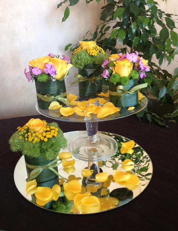 Sushi floreale per decorazione buffet