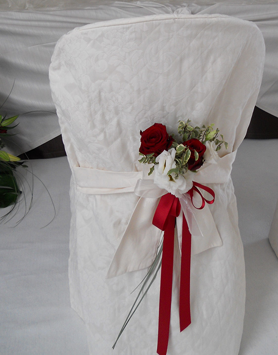 bouquet per sedia sposi