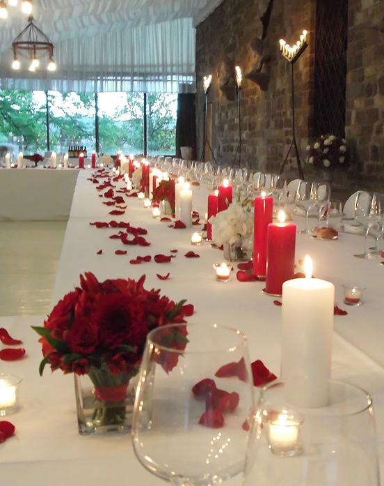 candele e petali
