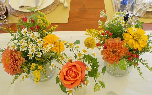 Centrotavola Matrimonio Rustico : Centrotavola rustico e colorato matrimonio in campagna