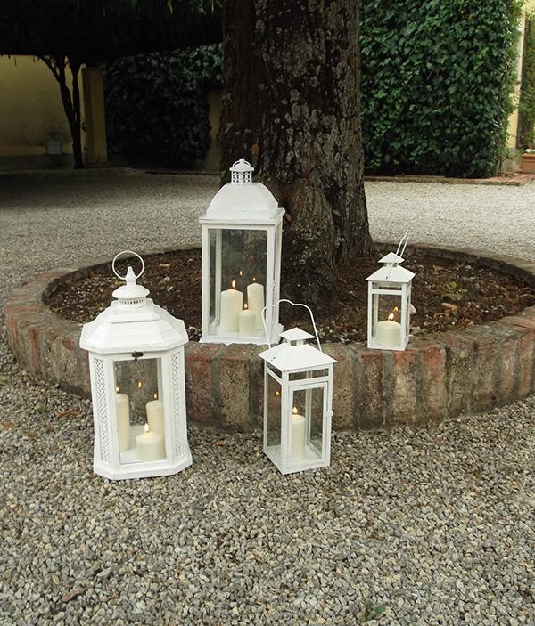 Lanterne bianche matrimonio la gardenia for Lanterne bianche