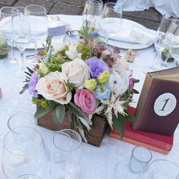 fiori matrimonio pastello vintage
