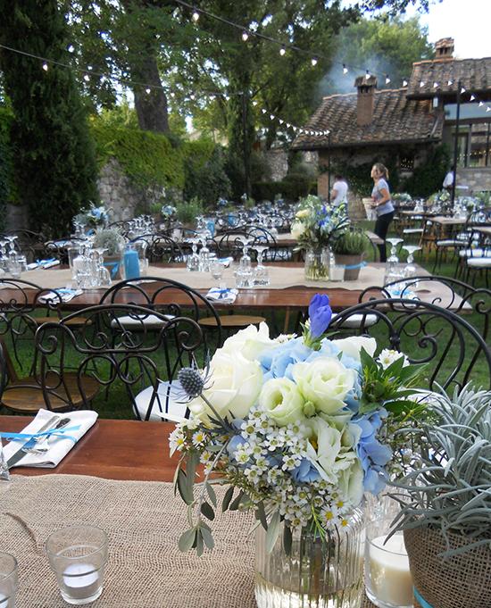 Matrimonio Rustico Chic : Fiori blu per un matrimonio rustico chic la gardenia