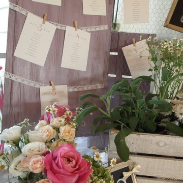 tableau mariage finestra shabby chic