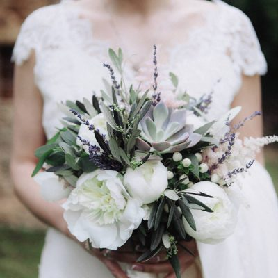 Olive and lavender wedding