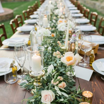 Romantic peach and gold wedding