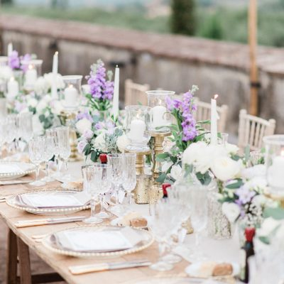 Delicate lavender wedding