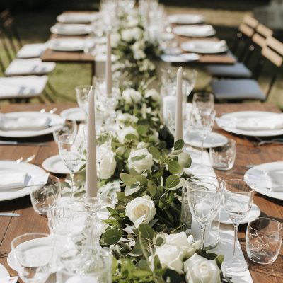 Rustic greenery wedding